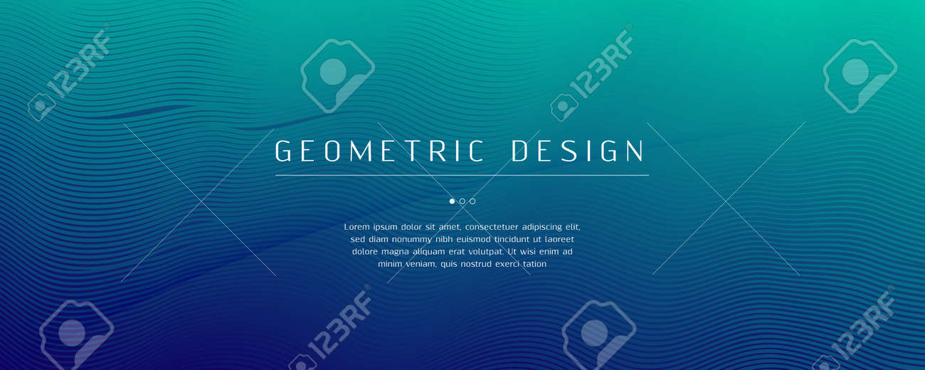 Blue Dynamic Wave. Fluid Abstract Layout. Vivid - 162707146