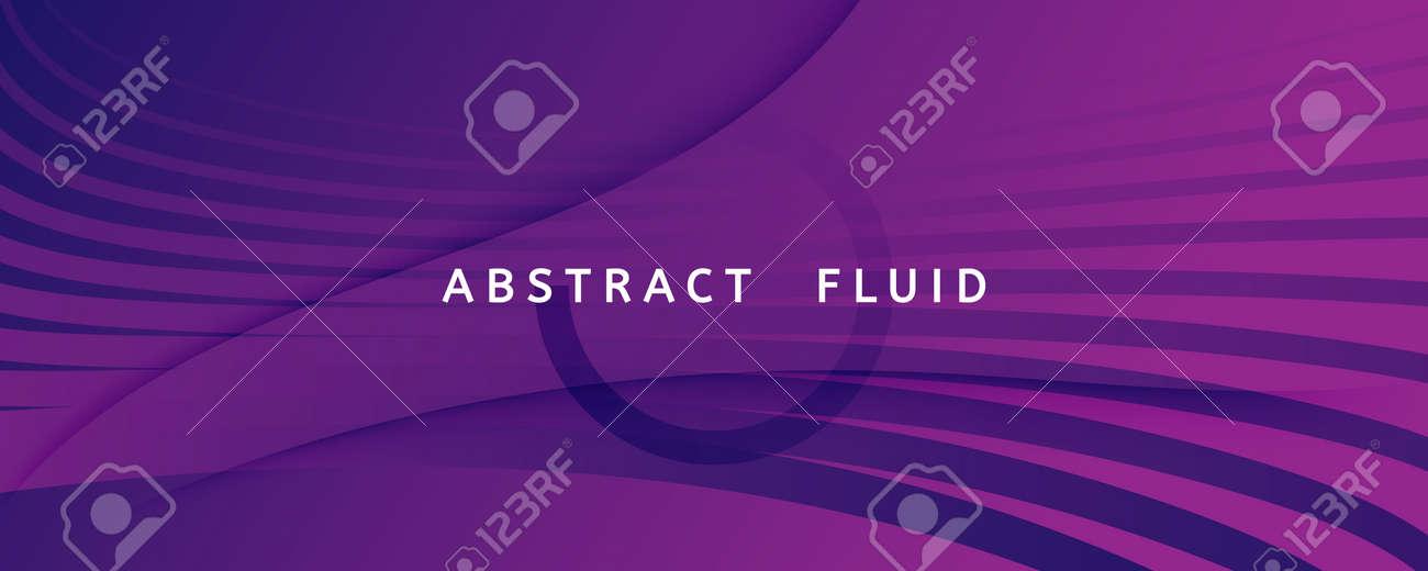 Fluid Background. 3d Flow Line Movement. Curve - 163020077