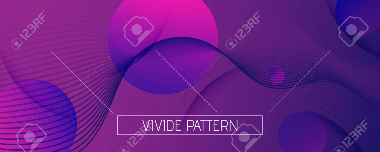 Fluid Background. 3d Flow Lines Wallpaper. Color - 163020087