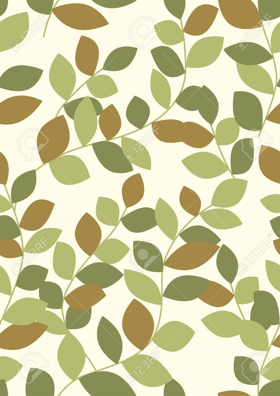 Seamless Leaves Background Stock Vector - 5988877