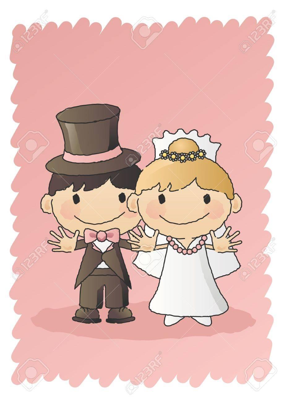 Bride and Groom Stock Vector - 7697119