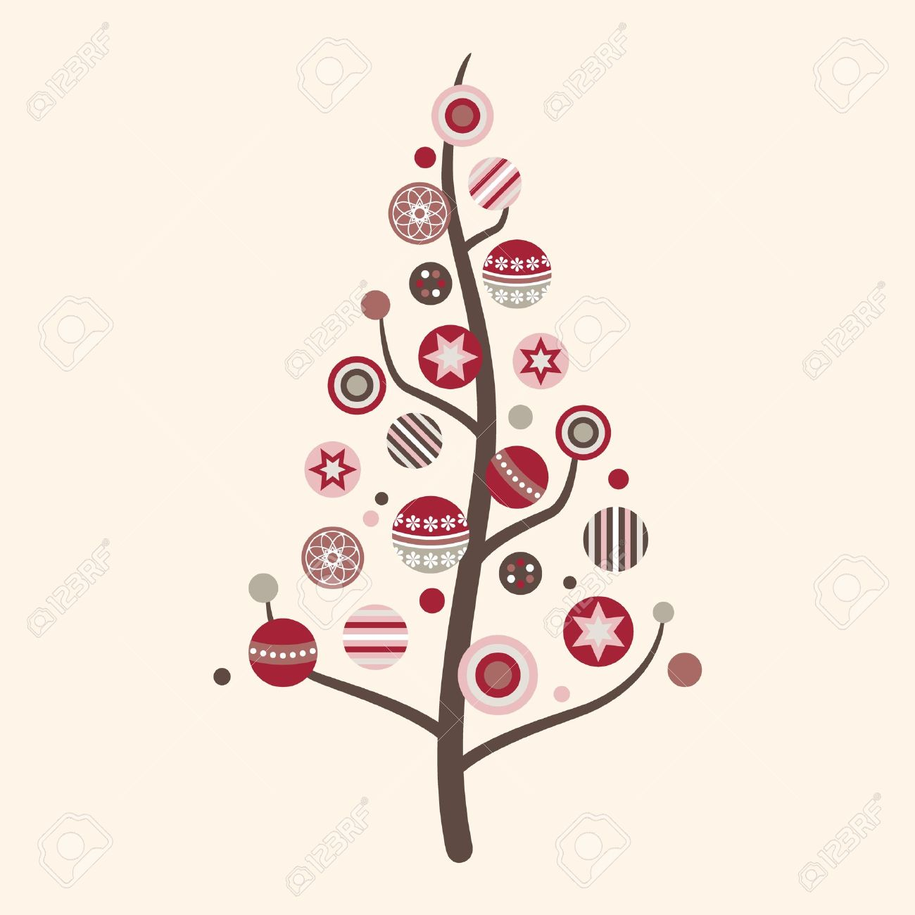 abstract christmas tree vector in modern colors royalty free