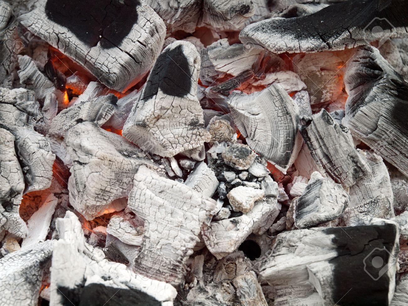 Smoldering lump charcoal of the quebracho tree premium grade restaurant and barbeque lumpwood charcoal stock