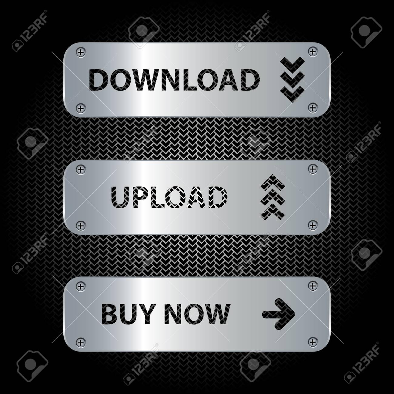 Button set Stock Vector - 9613737