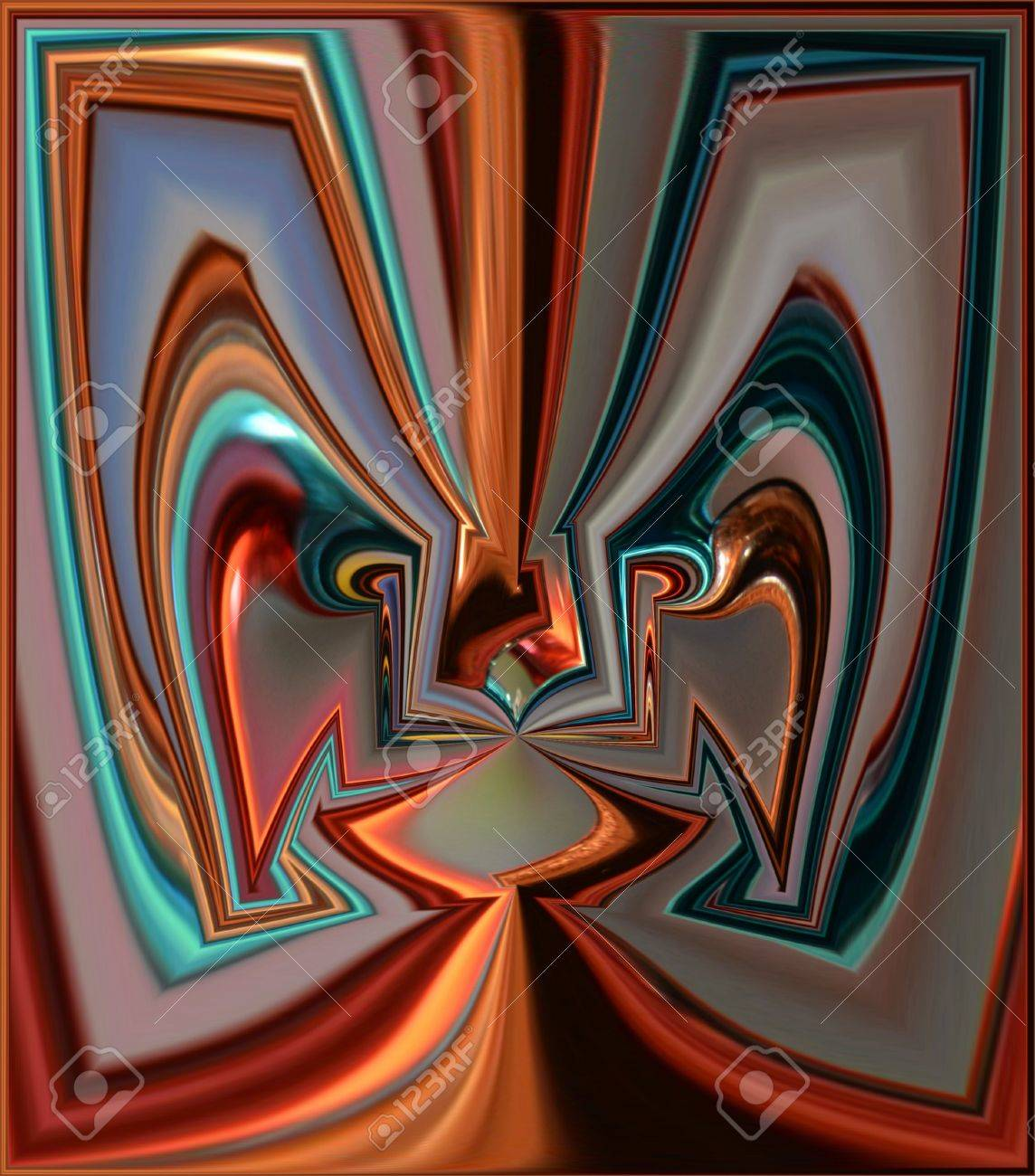 Squared Face Stock Photo - 12901766