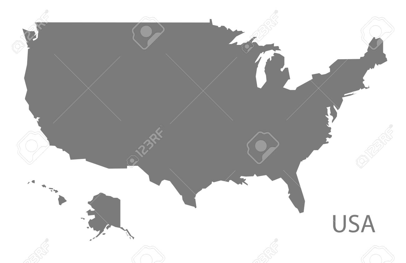 USA map in gray - 60482857