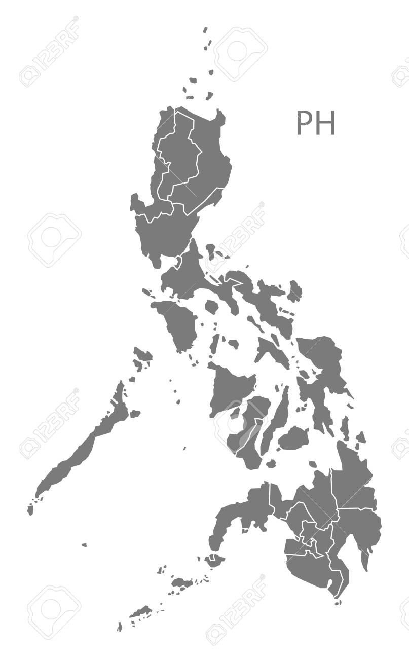 Philippines map in gray - 60408227