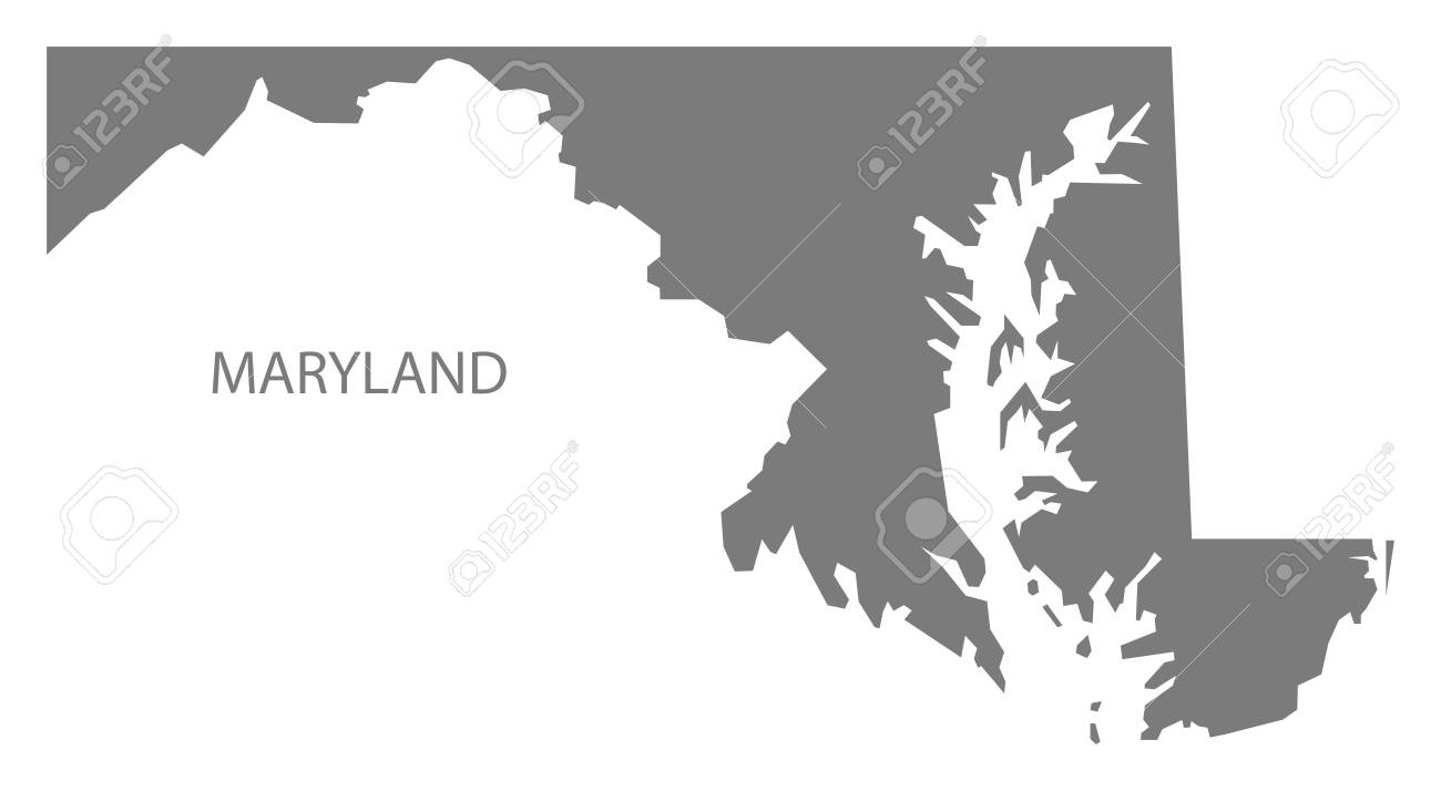 Maryland On Usa Map.Maryland Usa Map In Grey Royalty Free Cliparts Vectors And Stock