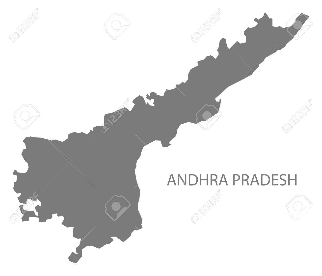 Andhra Pradesh India Map Gray Royalty Free Cliparts, Vectors, And ...