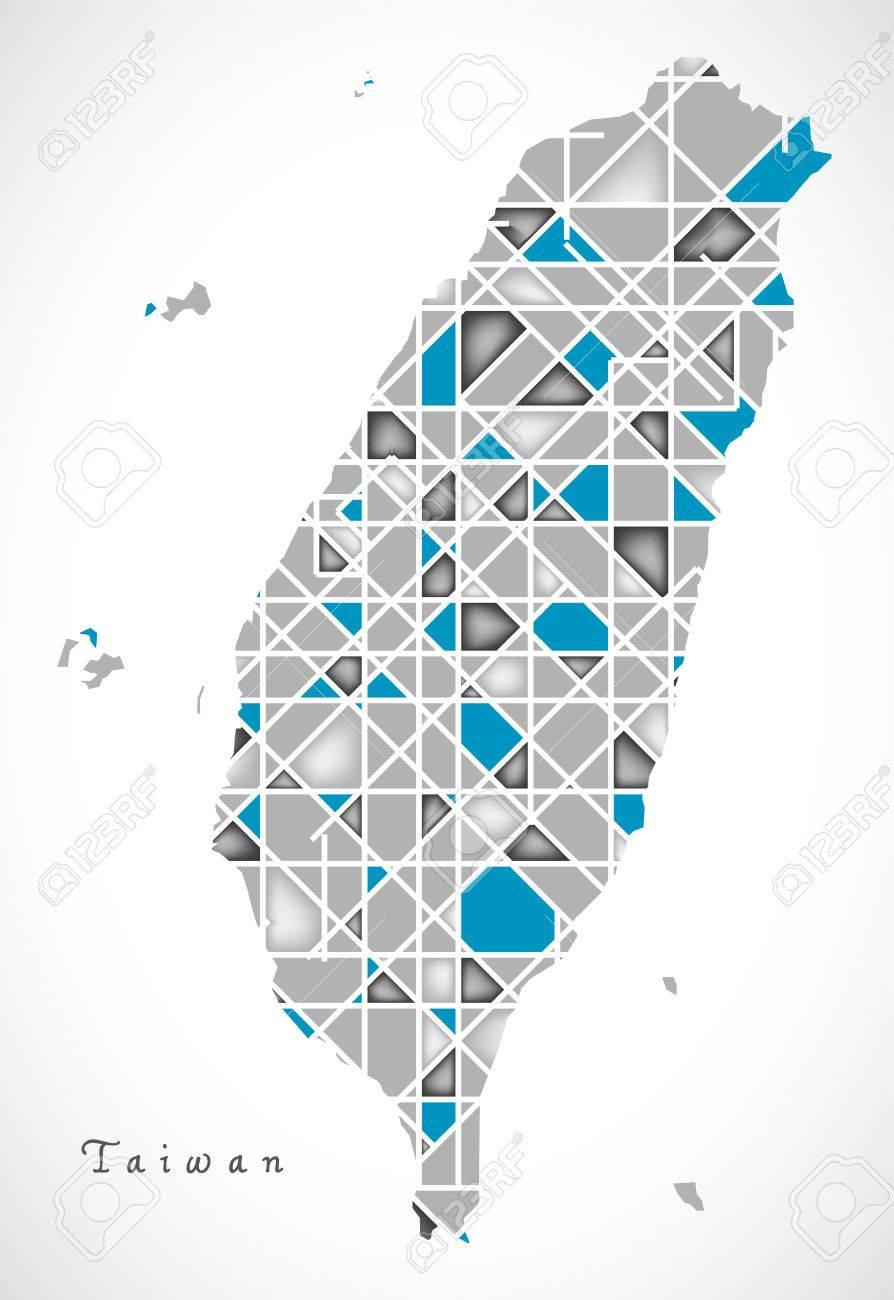 Taiwan Map crystal style artwork - 60710536