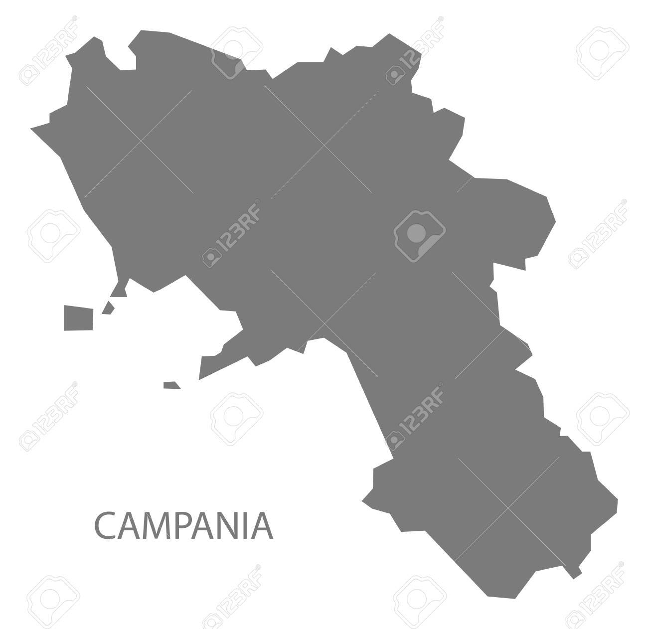 Campania Italy Map In Grey Royalty Free Cliparts, Vectors, And Stock ...
