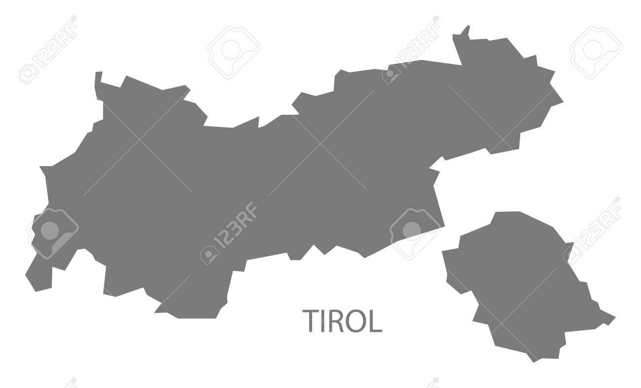 Karte Tirol.Stock Photo