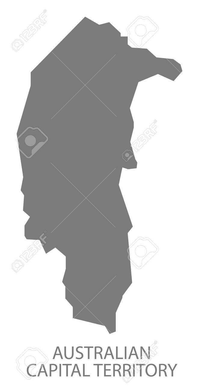 Australia Map Grey.Australian Capital Territory Australia Map Grey Royalty Free