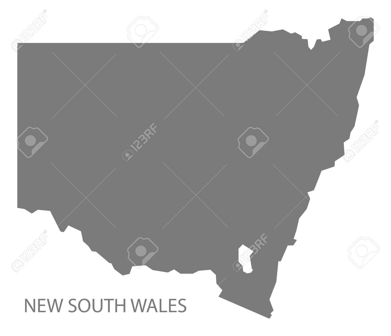 Australia Map Grey.New South Wales Australia Map Grey Royalty Free Cliparts Vectors
