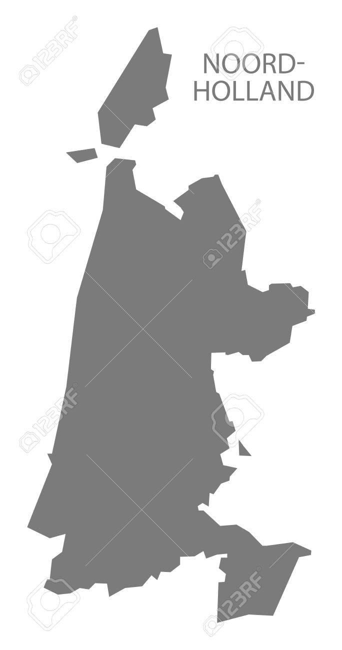 NoordHolland Netherlands Map Grey Royalty Free Cliparts Vectors