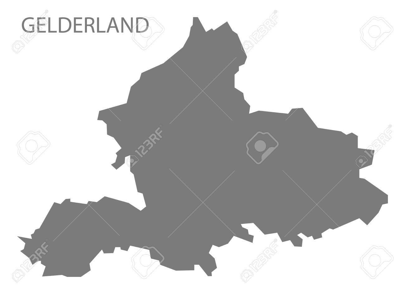 Gelderland Netherlands Map In Grey Royalty Free Cliparts Vectors