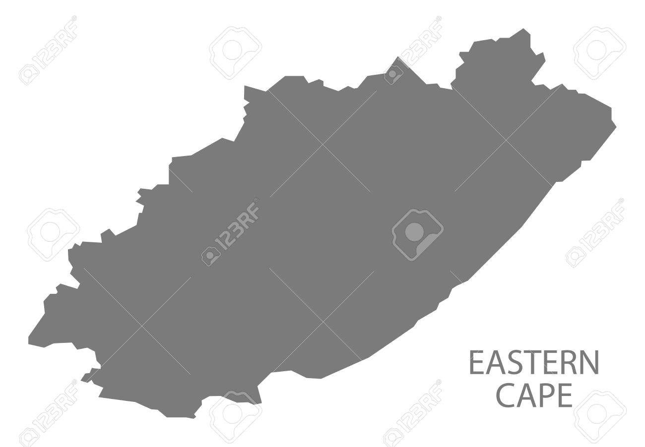 Map Eastern Cape South Africa.Eastern Cape South Africa Map Grey