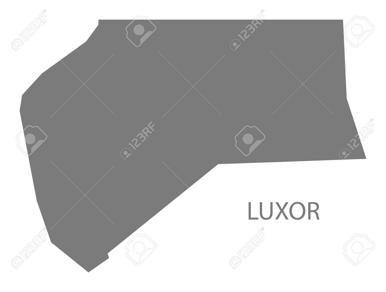 Luxor Egypt Map In Grey Royalty Free Cliparts Vectors And Stock