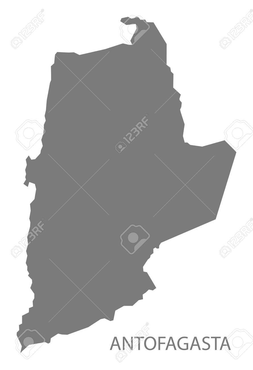 Antofagasta Chile Map In Grey Royalty Free Cliparts Vectors And