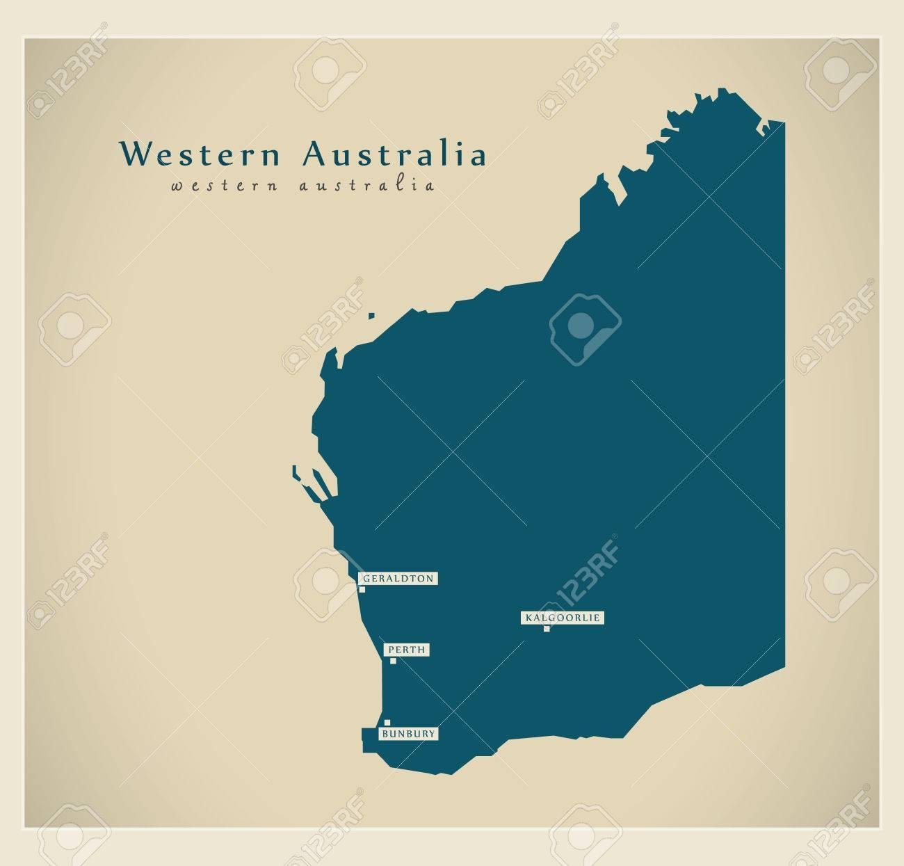 Modern Map - Western Australia AU - 66762516