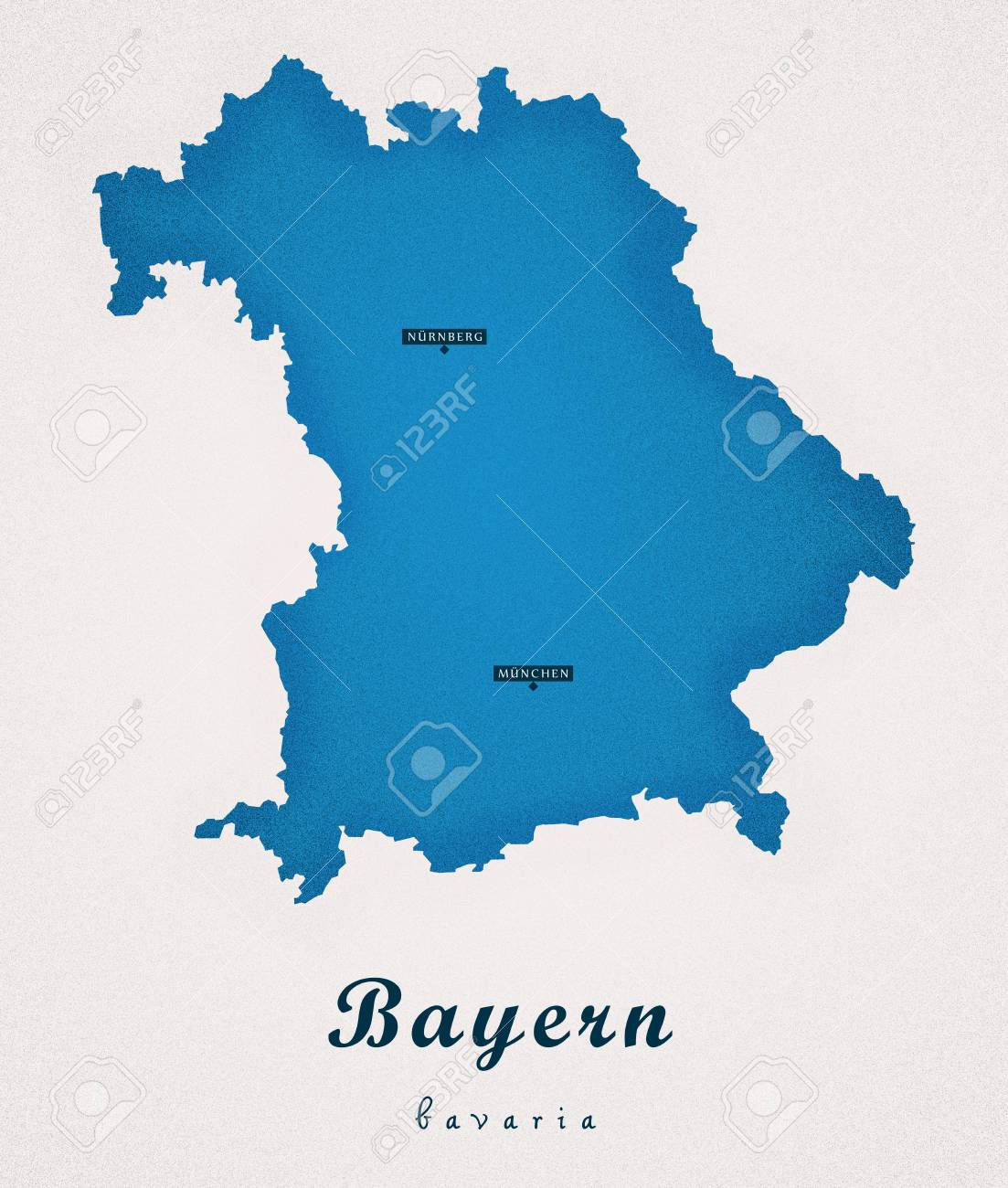 Bayern Germany De Art Map Stock Photo Picture And Royalty Free
