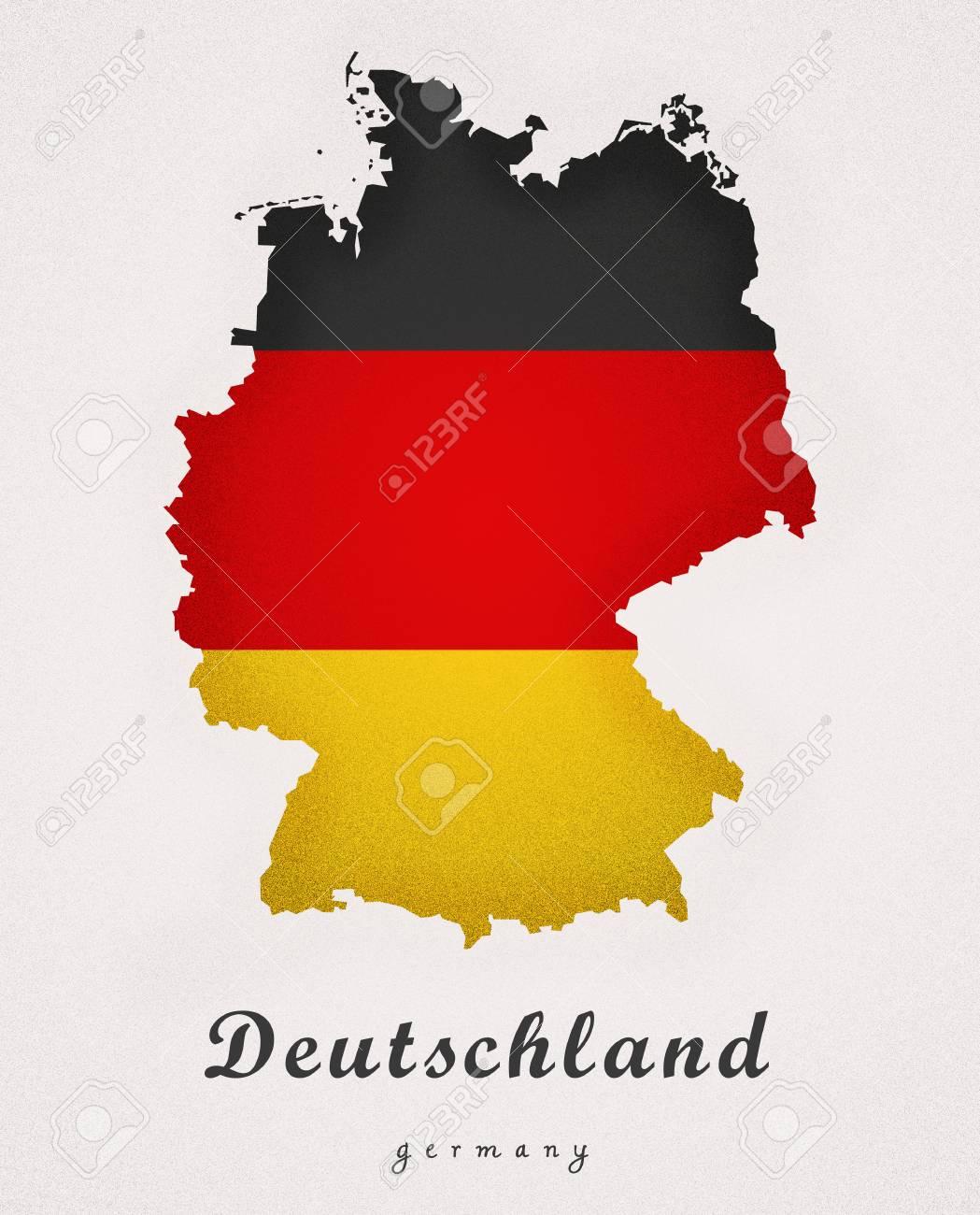 Map Of Deutschland Germany.Deutschland Germany De Art Map