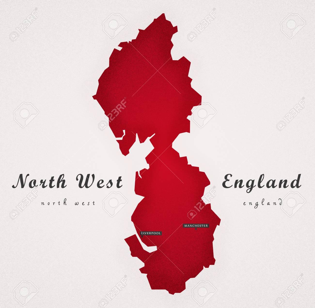 Map Of North Of England Uk.North West England Uk Art Map