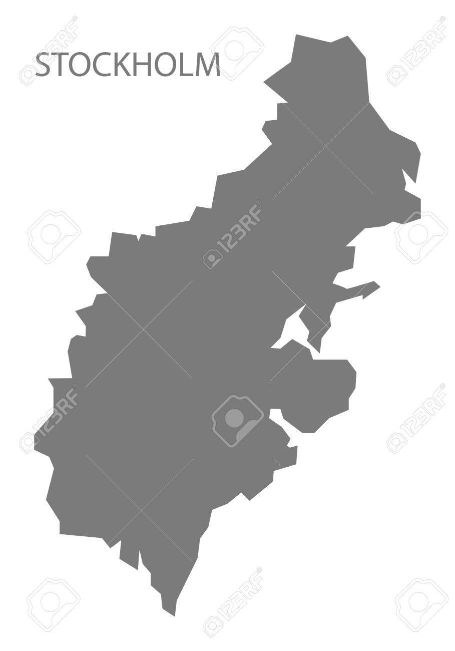 Stockholm Sweden Map grey - 66766007