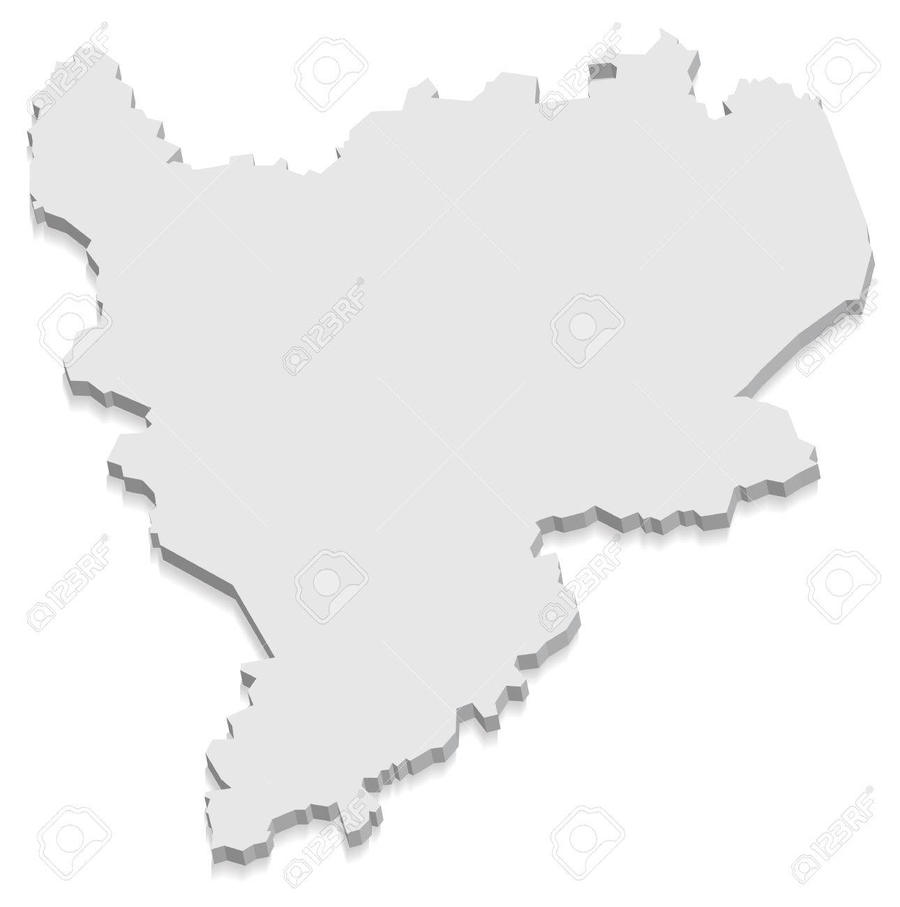 East Midlands England Map Grey 3d Royalty Free Cliparts Vectors