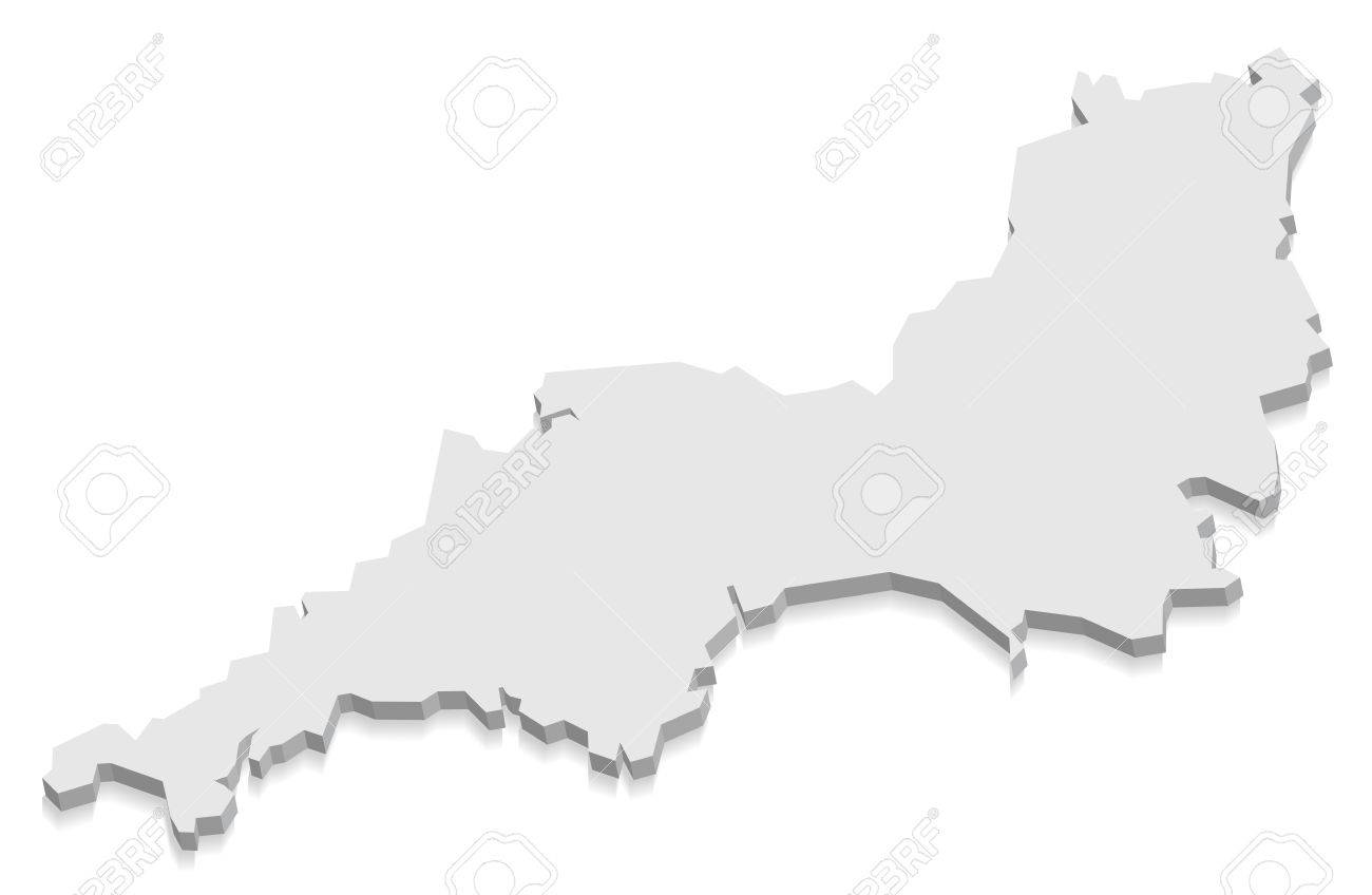 3d Map Of England.South West England Map Grey 3d