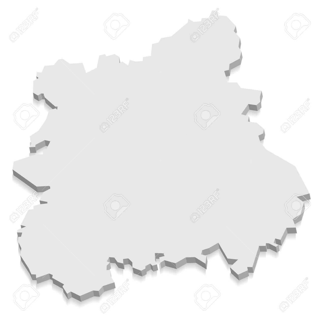 West Midlands England Map Grey 3d Royalty Free Cliparts Vectors