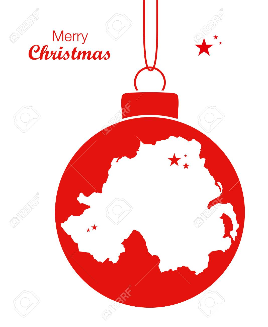 Merry Christmas Map Northern Ireland Royalty Free Cliparts, Vectors ...