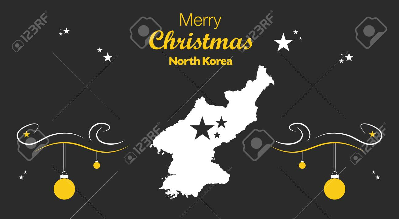 Merry christmas illustration theme with map of north korea royalty merry christmas illustration theme with map of north korea stock vector 66100295 gumiabroncs