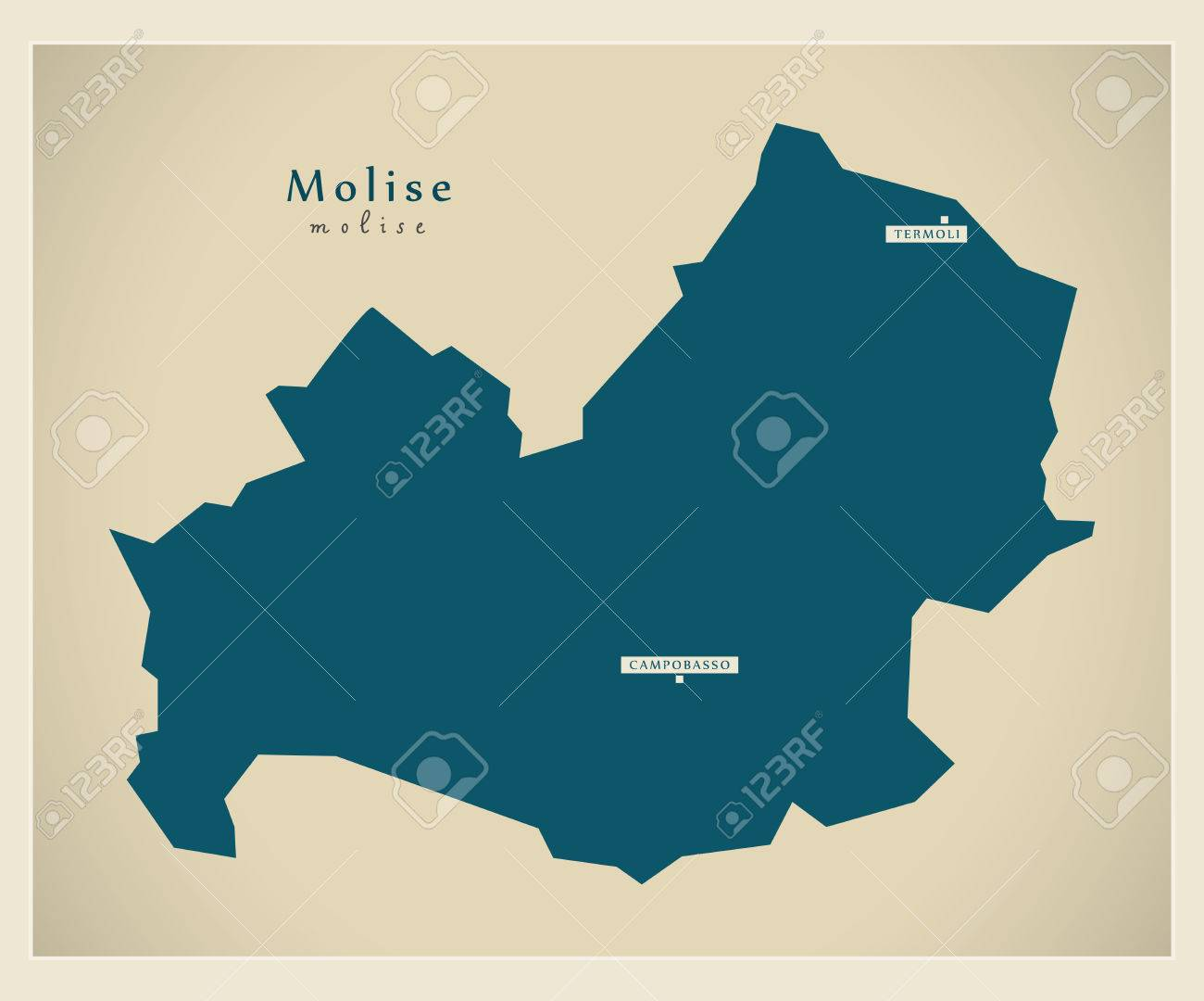 Modern Map Of Italy.Modern Map Molise It Italy