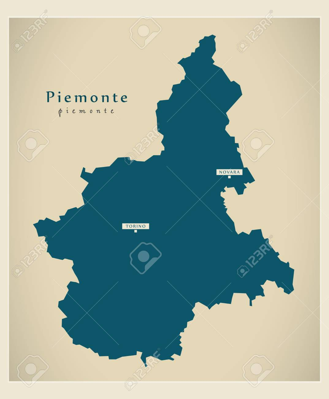 Modern Map Piemonte It Italy Royalty Free Cliparts Vectors And