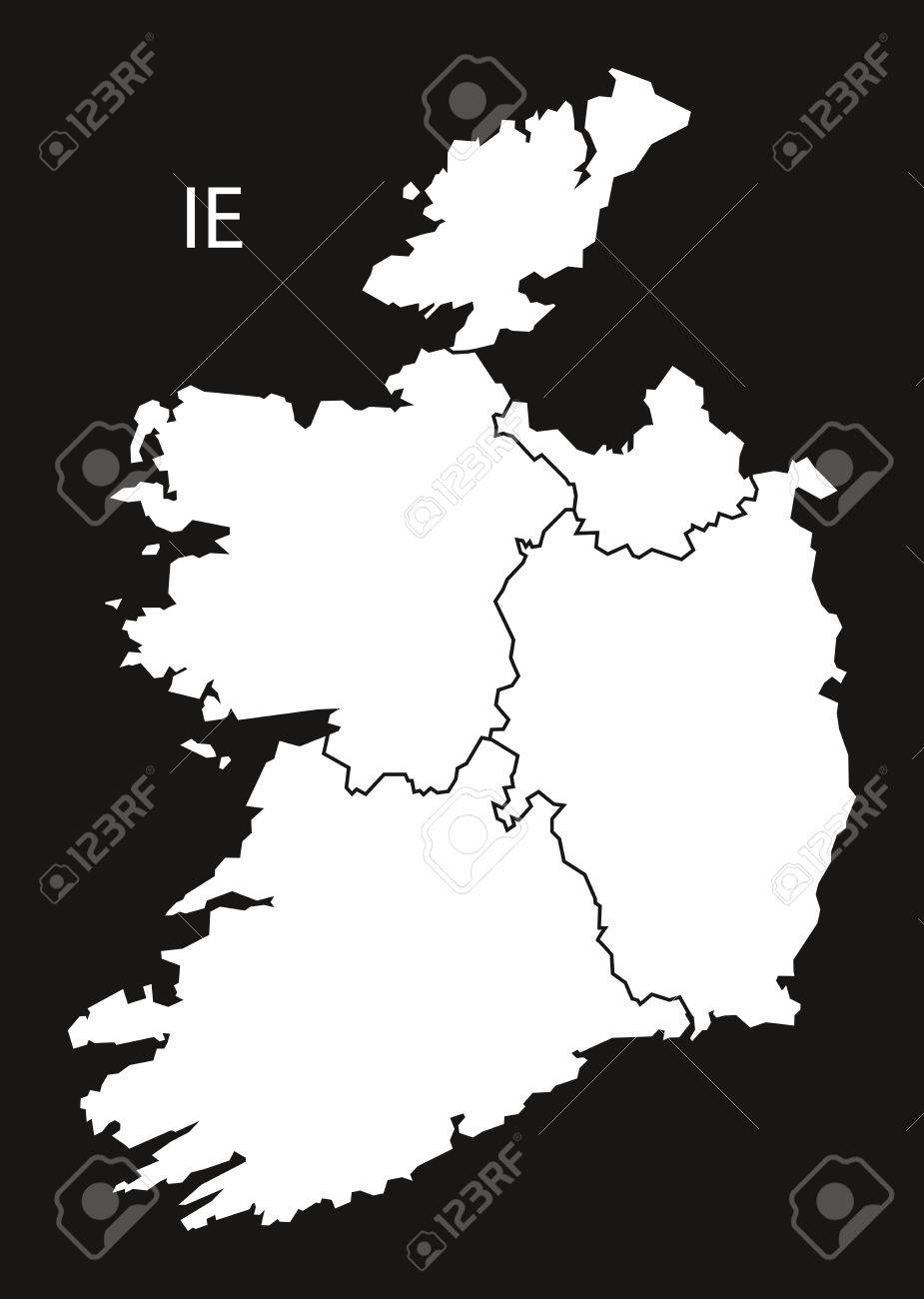 Map Of Ireland Black And White.Ireland Provinces Map Black White Royalty Free Cliparts Vectors