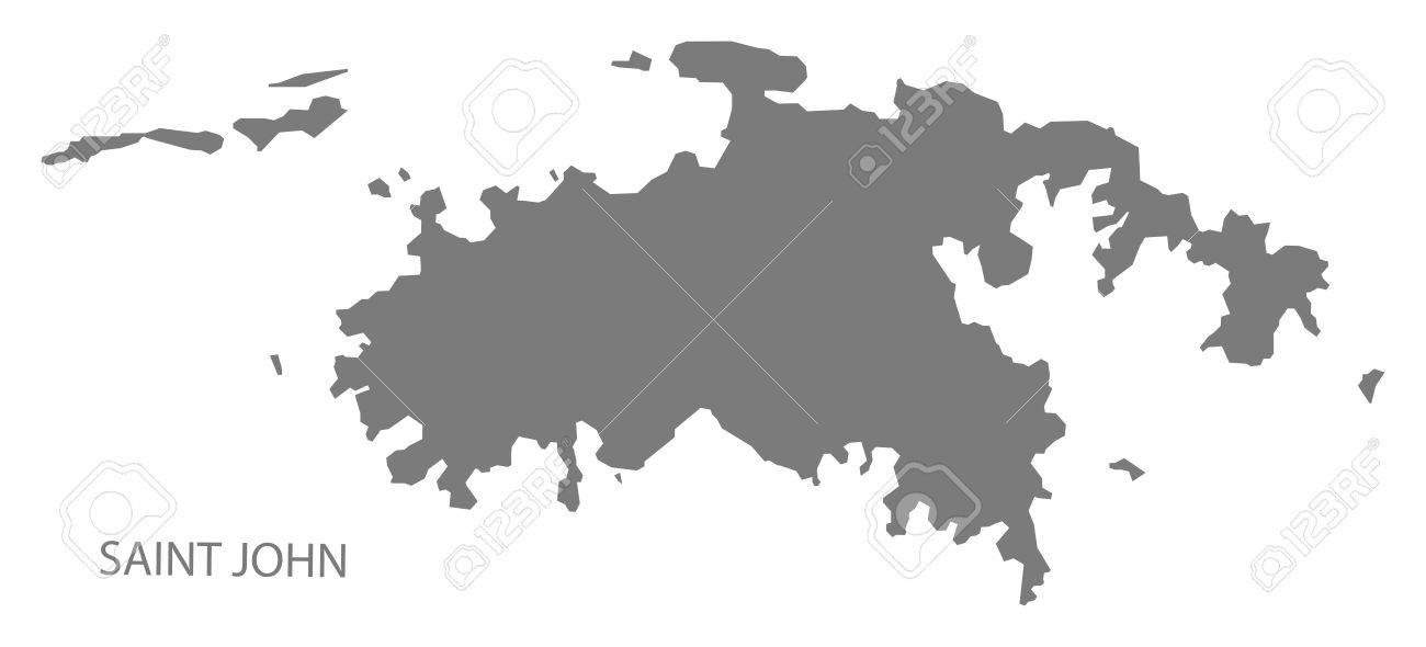saint john united states virgin islands map in grey stock vector 70036825