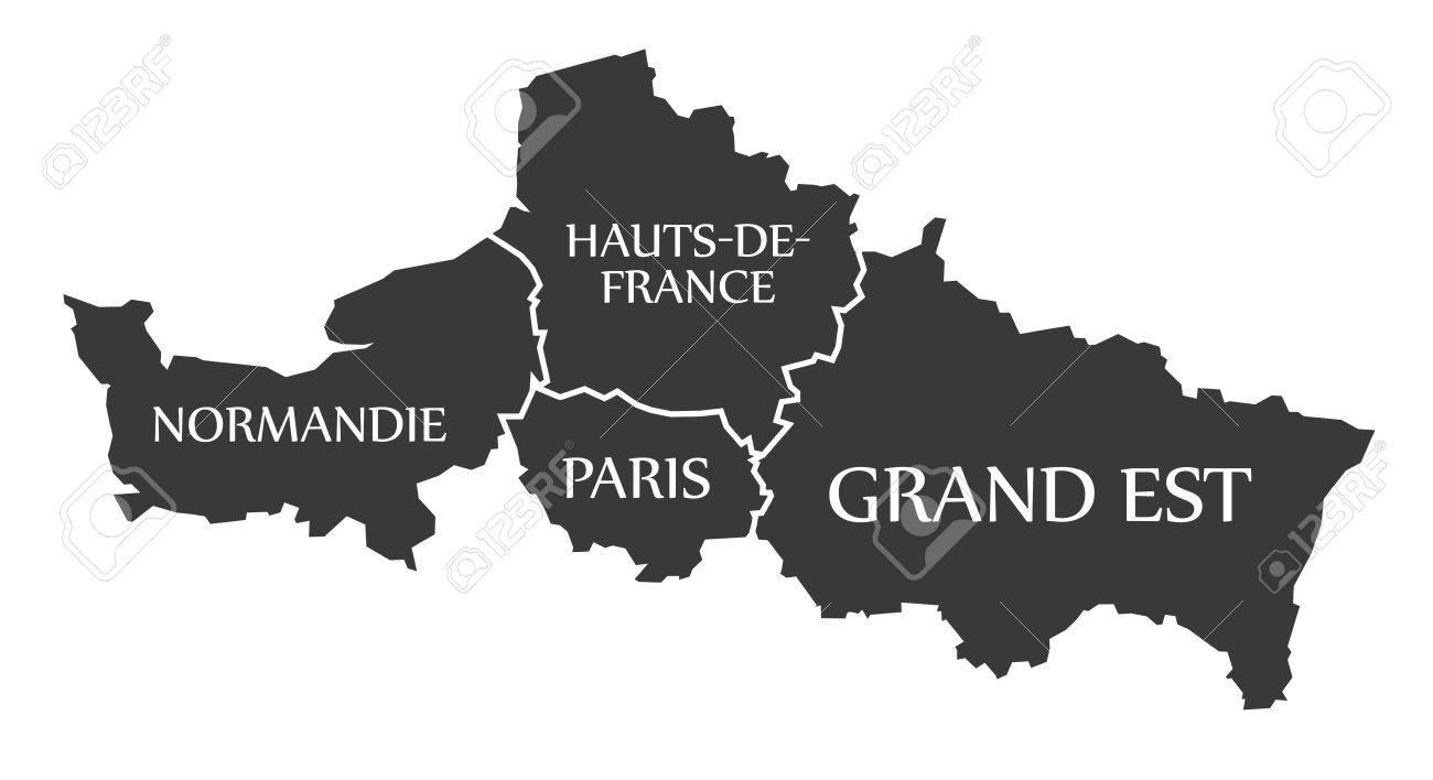 Normandie - Paris - Hauts-de-France - Grand Est Map France ...