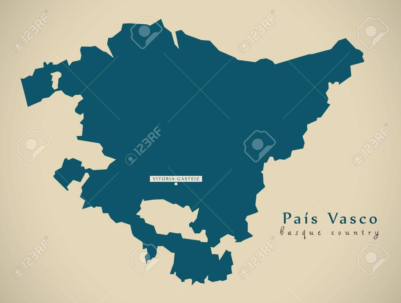 Modern Map Pais Vasco Spain Es Illustration Stock Photo Picture
