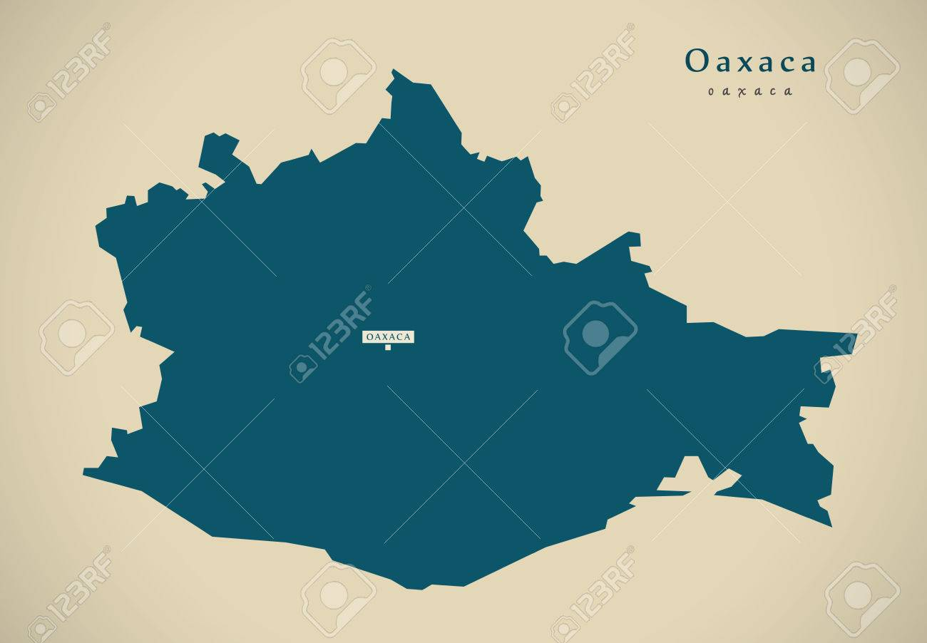 Modern Map Oaxaca Mexico MX Illustration Stock Photo Picture And