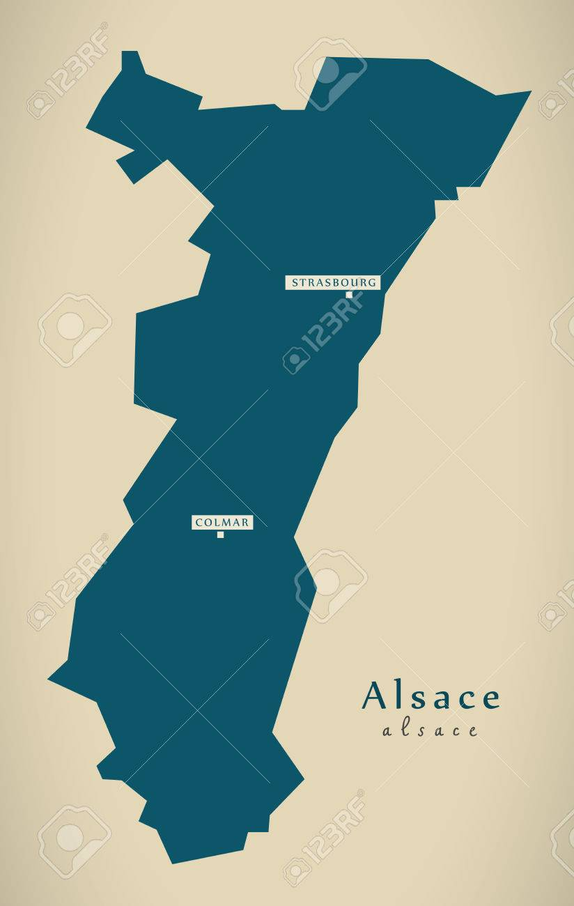 Modern Map Alsace France Fr Illustration Stock Photo Picture And
