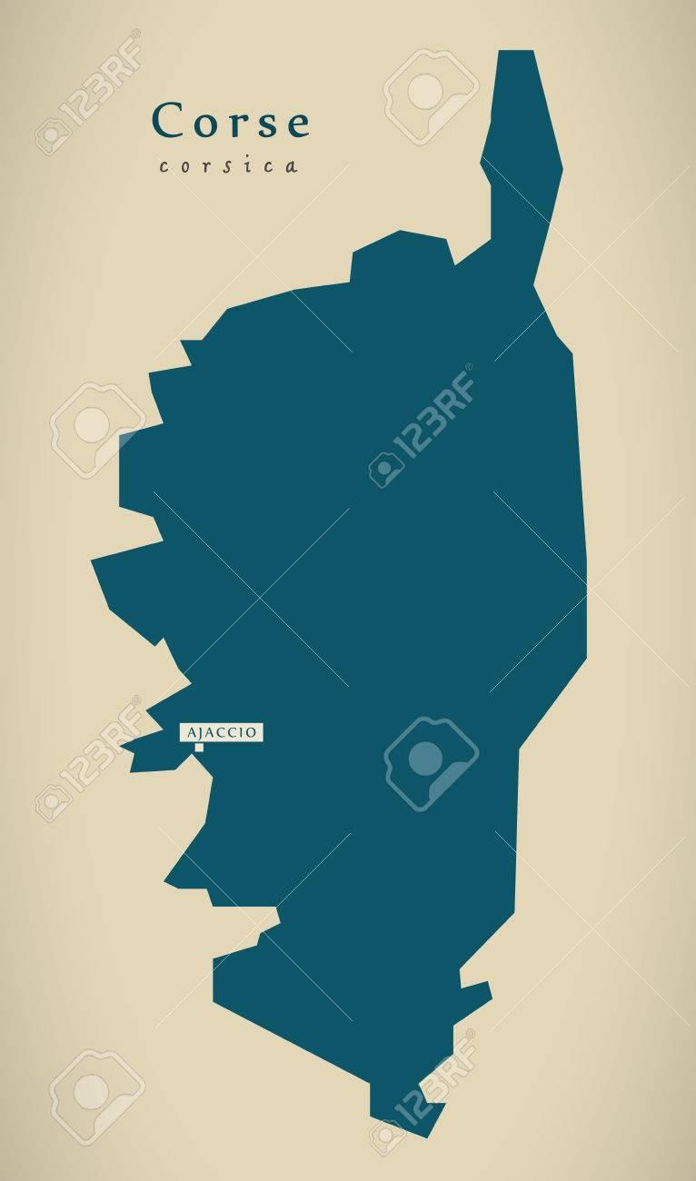 Modern Map - Corse France FR illustration - 73321725