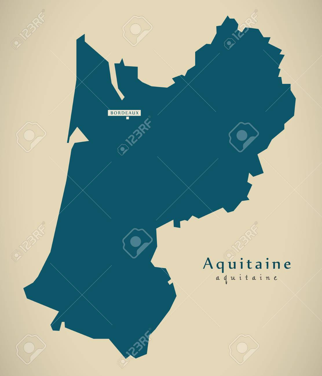 Modern Map Aquitaine France Fr Illustration Stock Photo Picture