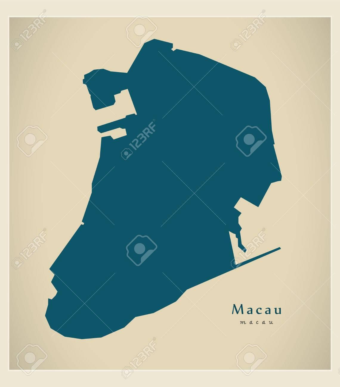 Modern Map - Macau CN region illustration silhouette - 73293089