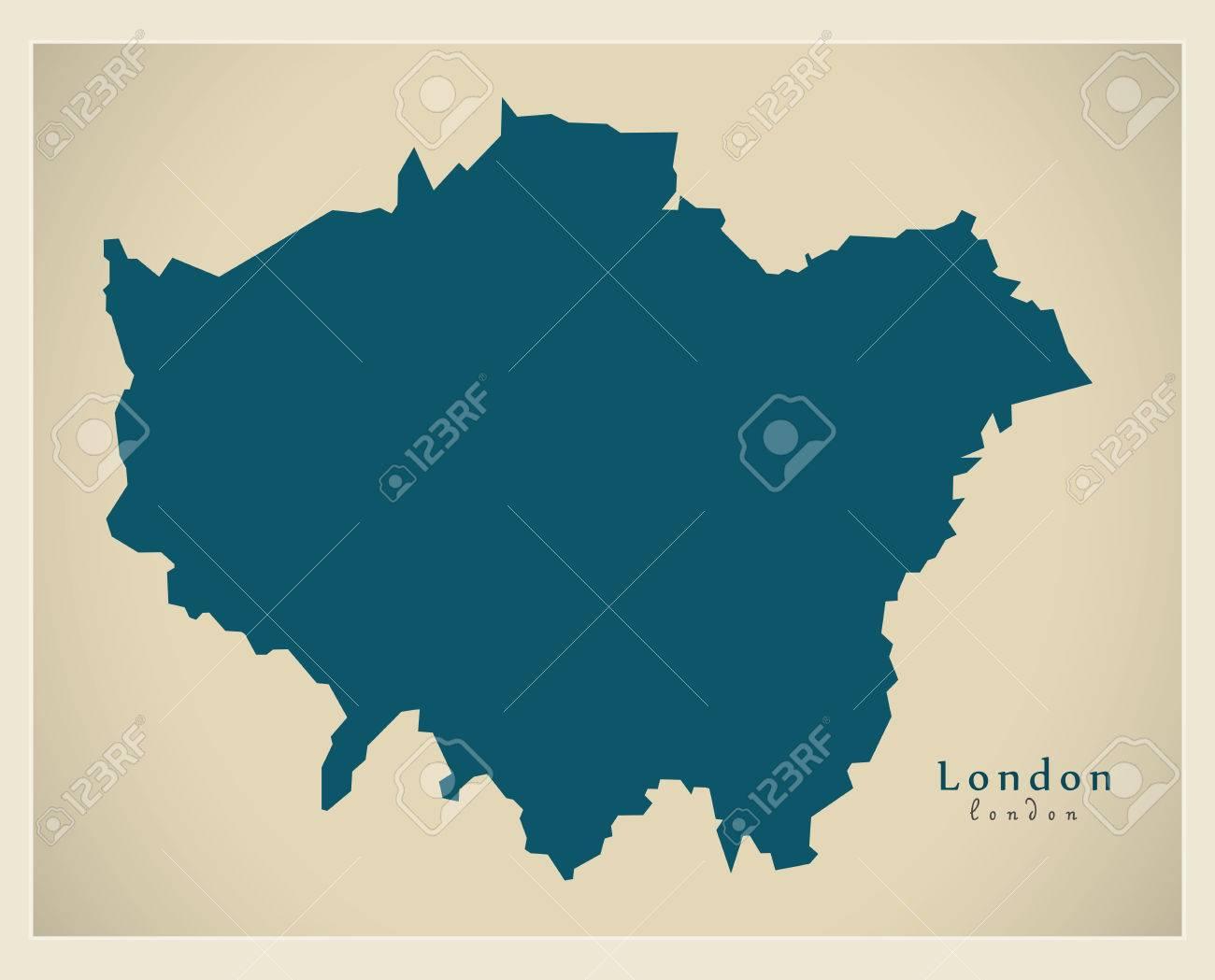 Modern Map - London UK refreshed design - 74436595