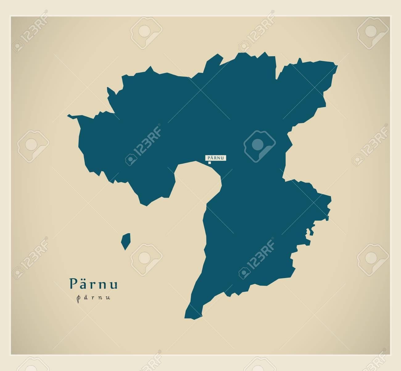 Modern Map - Parnu EE - 75351649