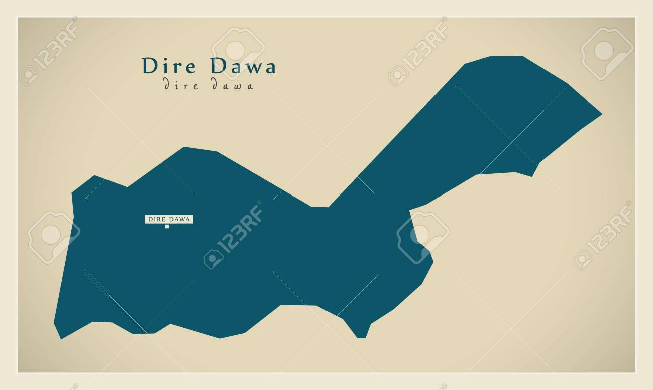Modern Map Dire Dawa ET Royalty Free Cliparts Vectors And Stock