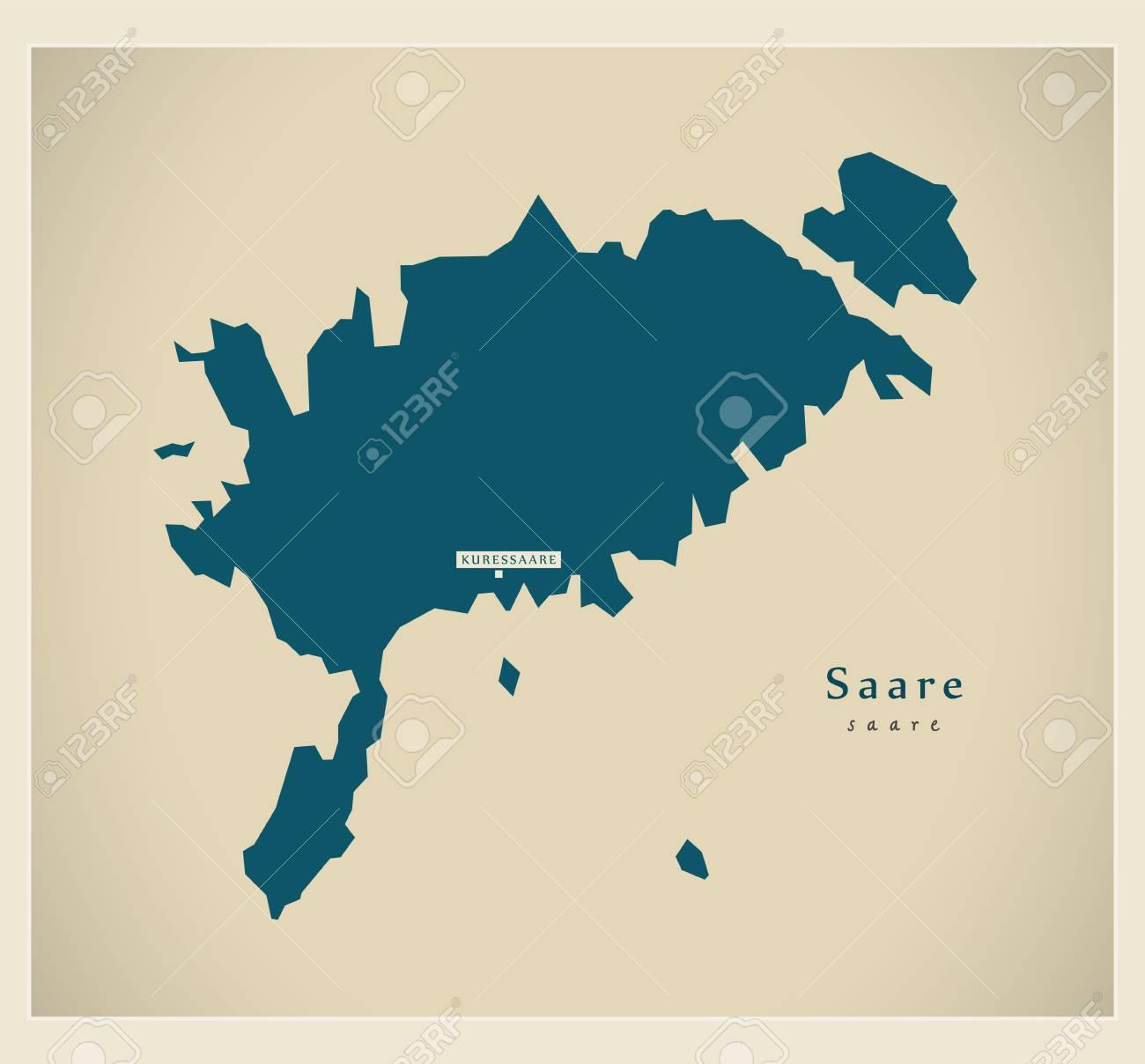 Modern Map - Saare EE - 75351646
