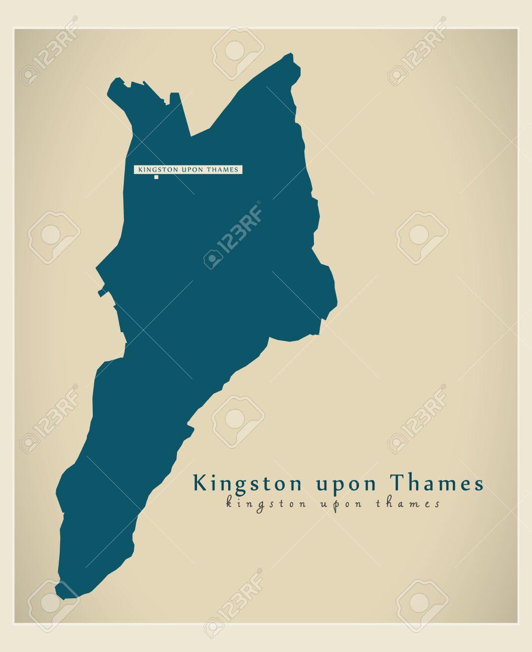 Karte London Stadtteile.Stock Photo