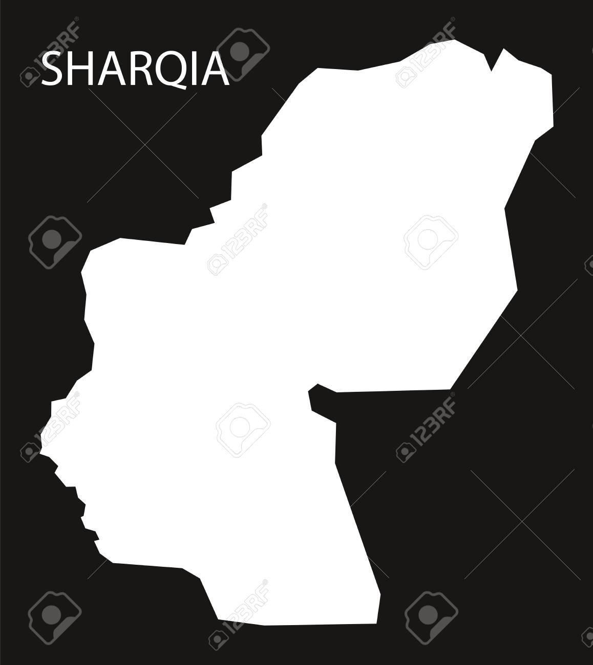 シャルキーヤ県エジプト地図黒反...